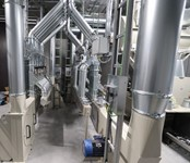 PneumaticTransportSystemForRecyclingWasteFromDieCutLidsForTheFoodIndustryForRecycling